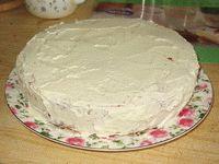 торт просто под кремом