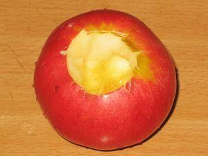 яблоко без сердцевины для запекания