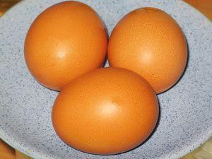 вымытые яйца дял белкового крема