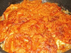 Говядина запеченное в духовке с помидорами и сыром рецепт