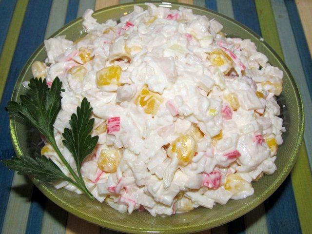 салат крабовый рецепт по шагово