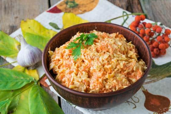 Салат из сыра и моркови