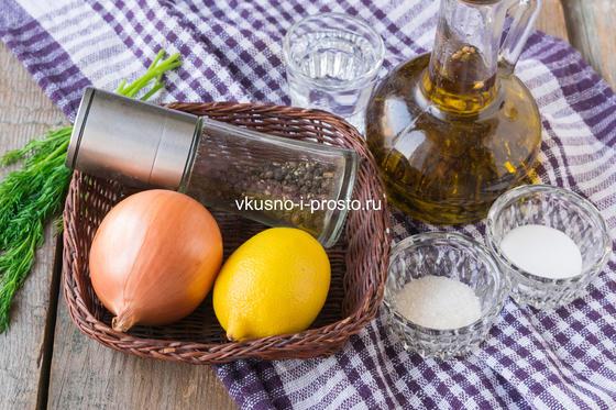 ингредиенты ля лука в лимонном соке