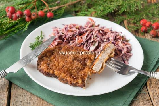 шницель из свинины