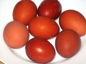 матовые покрашенные яйца
