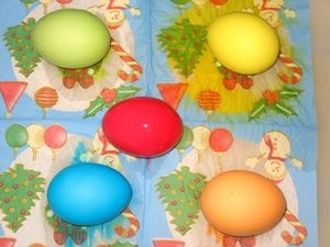 сушка пасхальных яиц