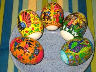 украшение пасхальных яиц термоэтикетками