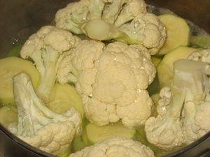 варка овощей для супа пюре