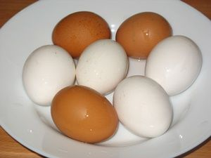яйца перед покраской