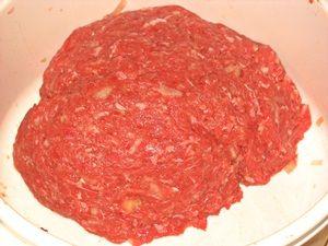 фарш из телятины для котлет под сыром