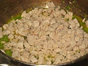 куриное филе и пюре из брокколи