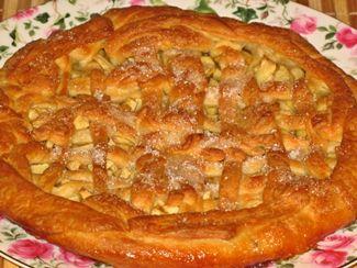 пирог с яблоками из слоёного теста
