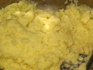картофельное пюре на шаньги
