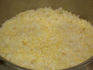варёные рис с пшеном