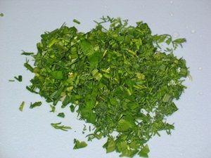 зелень для салата из редиски