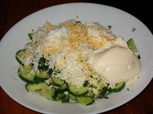 майонез для салата из огурцов
