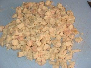 нарезанная куриная грудка для салата с шампиньонами