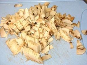 резаные шампиньоны для салата с курицей