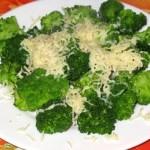 Варёная капуста брокколи