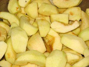 яблочные дольки на повидло