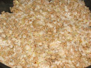 Фарш с рисом для фаршированных блинов