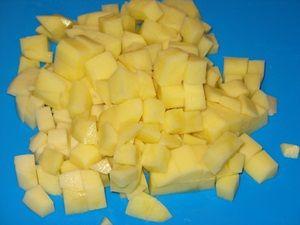 картошка для супа с фасолью