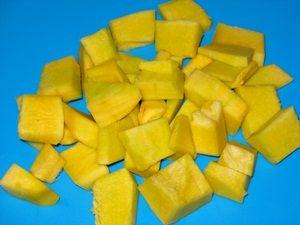Кусочки тыквы для рисовой каши