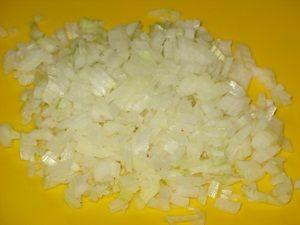 Лук для блинов с фаршем и рисом