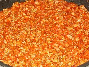 фарш с кетчупом для лазаньи