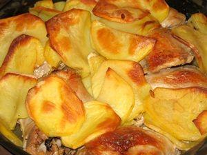 готовые окорочка с картошкой