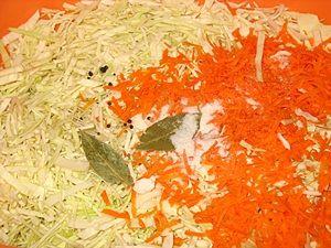 капуста морковка и специи