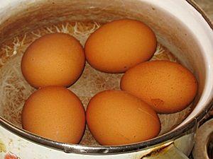 Варёные яйца для салат оливье