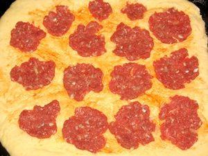 фарш на тесте для пиццы