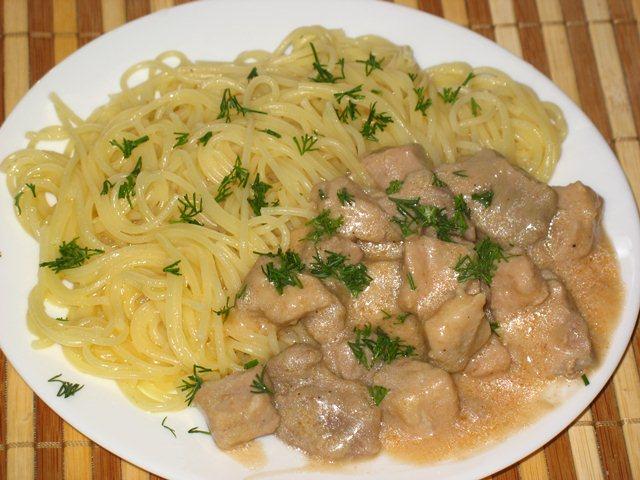 Что приготовить из свинины и макарон