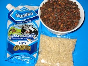 ингредиенты для десерта из кунжута