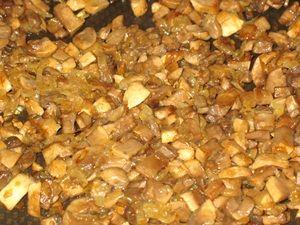 обжарка грибов для пирожков с картошкой