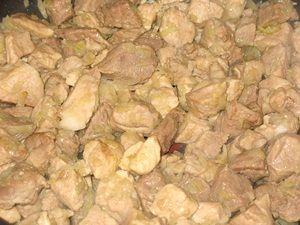 обжарка свинины с луком