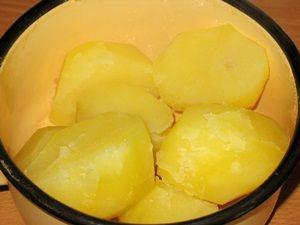 варёная картошка для пирожков с грибами