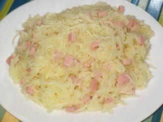 Вермишель с колбасой