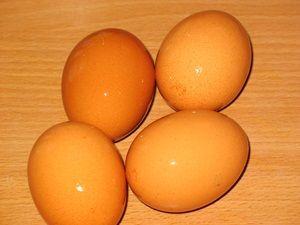 мытые яйца для сливочного мусса