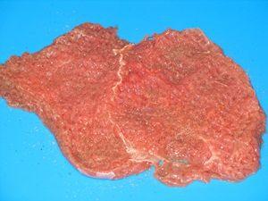 отбитое мясо с перцем