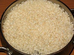 промытый рис для плова с говядиной