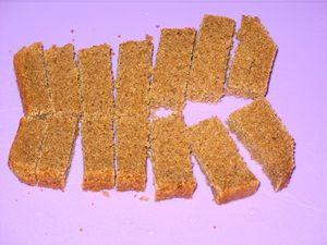 кусочки бородинского хлеба