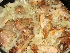 лук в курице для чахохбили