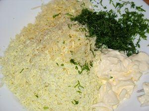 ингредиенты для сырного салата