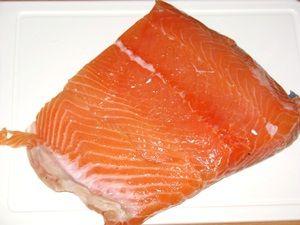 Слабосолёный лосось