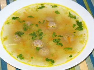 Суп с фрикадельками из фарша и риса рецепт пошагово в