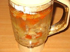 суп с лососем в блендере