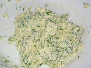 сырный салат для имитации яиц