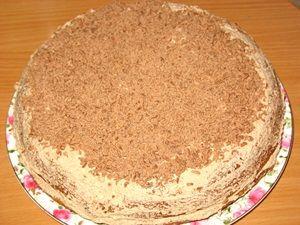 украшение торта Прага тёртым шоколадом